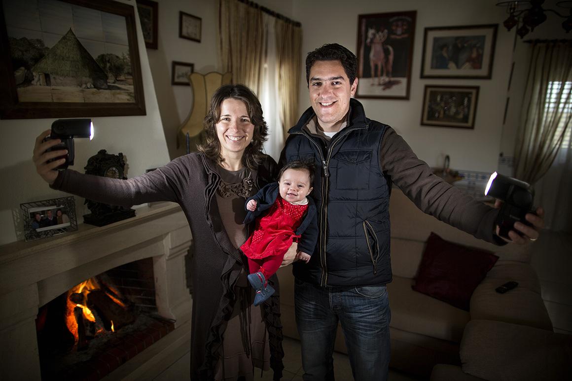 Vera e José Miguel, também de Marvão, com a filha Matilde, de três meses